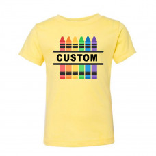 Custom Crayon Toddler T-Shirt